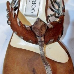 Jimmy Choo Shoes - JIMMY CHOO ITALY Slide Sandal Stitched Suede